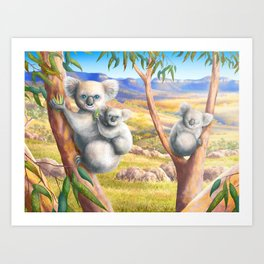 Koala and Joey Art Print