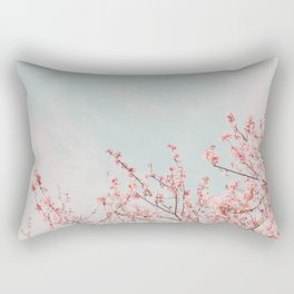 Pink Flowers in the Sky Rectangular Pillow