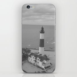 Black and White Lighthouse iPhone Skin