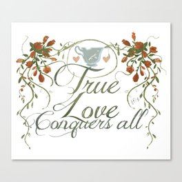 Rumbelle- True love conquers all Canvas Print