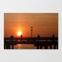 Sunrise at Bishop Park Canvas Print