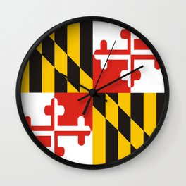 maryland state state flag united states of america country Wall Clock