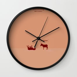 Crazy old Mule / I See Dead Mule Wall Clock
