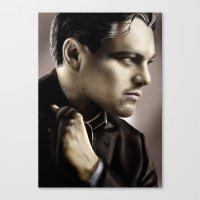 leonardo dicaprio Canvas Prints featuring Leonardo DiCaprio by Duke78