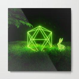 Icosahedron Hare Metal Print
