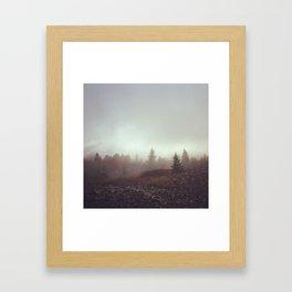Canaan Valley Fog Framed Art Print