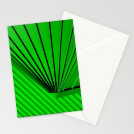 Lime Lines Study Stationery Cards
