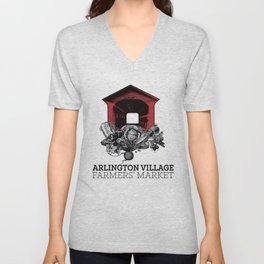 Arlington Village Farmers Market Unisex V-Neck