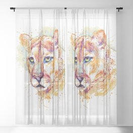 Cougar Head Sheer Curtain
