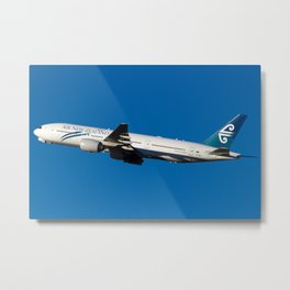 Air New Zealand Boeing 777-200ER - Beautiful Climb Away from Sydney to Auckland Metal Print