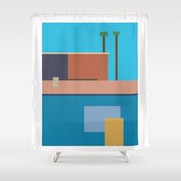Homage To Hockney Shower Curtain