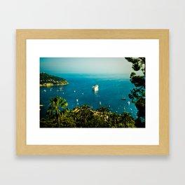 Côte d'Azur Framed Art Print