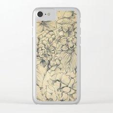 Hydrangeas Clear iPhone Case