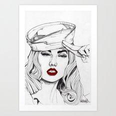 Sailor Girl 2 Art Print