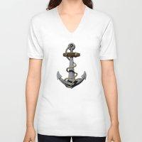 anchor V-neck T-shirts featuring Anchor by MacDonald Creative Studios
