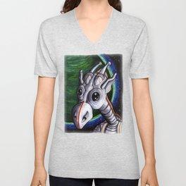 Space Giraffe Unisex V-Neck
