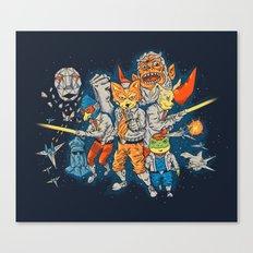 Fox Team Canvas Print