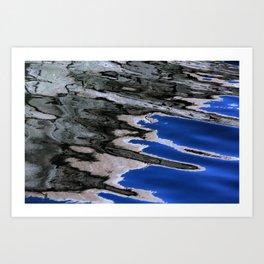 grey abstract water reflection Art Print