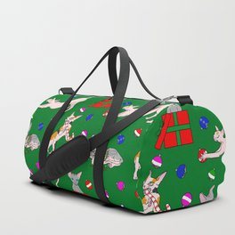 christmas sphynx (naked cat) ugly sweater Duffle Bag