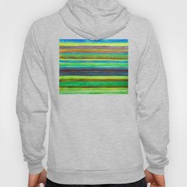 Colorful Horizontal Stripes Hoody