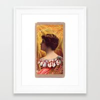 lovecraft Framed Art Prints featuring Lovecraft Lady by The Gonk