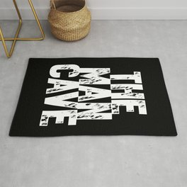 The Man Cave (white text on black) Rug
