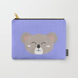 Happy Koala head Carry-All Pouch