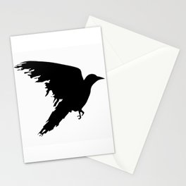 Ragged Raven Silhouette Stationery Cards