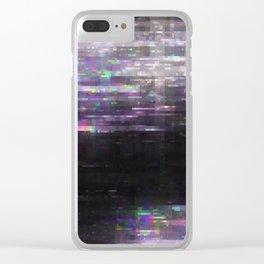 Glitch, please Clear iPhone Case