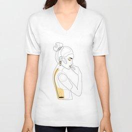 Lemon Girl Unisex V-Neck