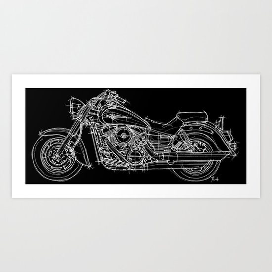 Vulcan 1600 original handmade drawing