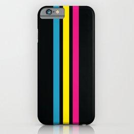 Stripes on Black iPhone Case