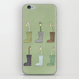Ducks In Wellies iPhone Skin