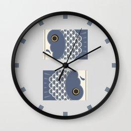 Koinobori   Grey Wall Clock
