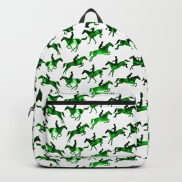 Showjumping Horse Sequence (Green) Backpack