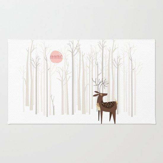 Reindeer of the Silver Wood Rug