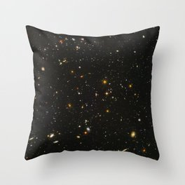 Hubble Space Telescope Field of Galaxies Throw Pillow