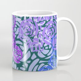 Colorful Overlapping Roses on Roses Print Design 3 Coffee Mug