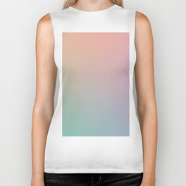HOLOGRAPHIC - Minimal Plain Soft Mood Color Blend Prints Biker Tank