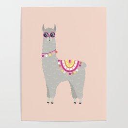 Super Cool Llama Poster