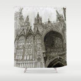 Rouen facade Shower Curtain