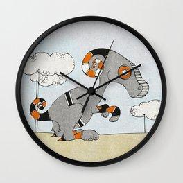 Kangaroo Go-Go Grey Wall Clock