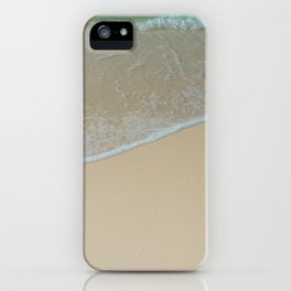 Tropical White Sand Beach With Clear Turquoise Water in Hawaii iPhone Case