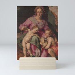 Santi di Tito - Madonna and Child with the Infant Saint John the Baptist Mini Art Print
