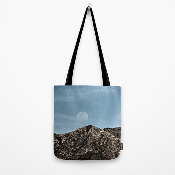 Moon over the Franklin Mountains Tote Bag