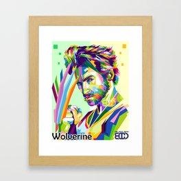 Hugh Jackman pop art wpap Framed Art Print