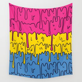 Pastel Kawaii Melting Pansexual Pride LGBTQ Design Wall Tapestry