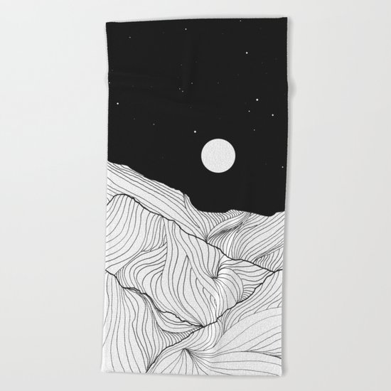 Lines in the mountains II Beach Towel