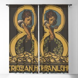Vintage First World War Poster - Austrian 8th War Loan, Vienna Commercial Bank (1918) Blackout Curtain