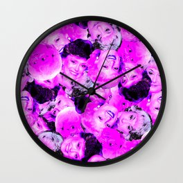 Golden Girls Toss in Electric Pop Pink Wall Clock